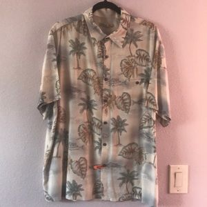 Vintage multicolored Batik Bay rayon shirt